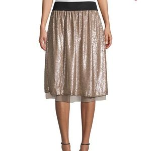 Free People gold sequined skirt -Small